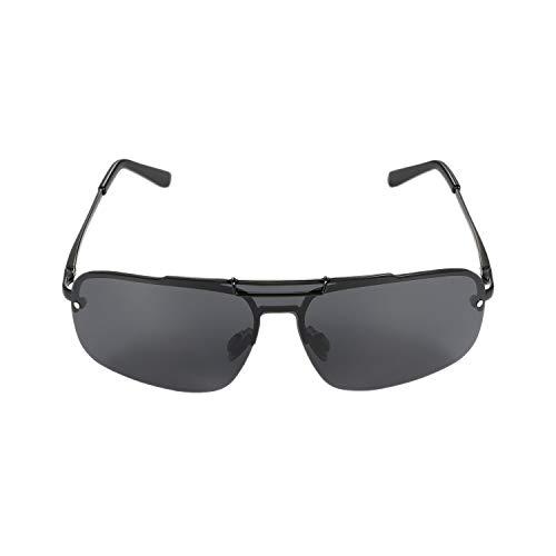 Aroncent Herren Damen Sonnenbrille Halbrahmen Fahren Outdoor polarisiert UV-Schutz 400 Strahlenschutz Farbe wählbar Schwarz