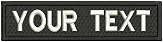 Custom Embroidered Name Tag Iron Sew Hook Fastener Patch (Customize)