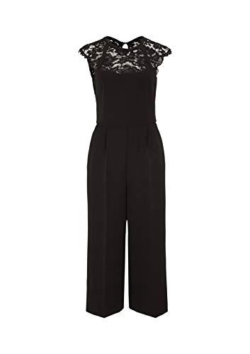 comma Damen 8E.995.85.3752 Jumpsuit, Schwarz (Black 9999), (Herstellergröße: 38)