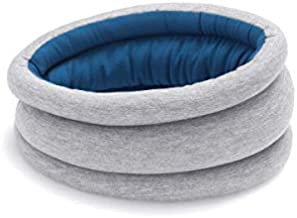 OSTRICHPILLOW LIGHT Travel Pillow for Airplanes, Car, Office, Neck Support for Flying, Power Nap Neck Pillow, Travel Accessories for Women and Men - Color Blue Reef