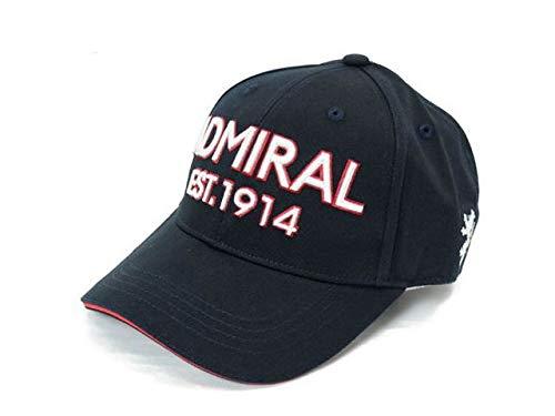[アドミラルゴルフ] キャップ ロゴ ゴルフ 帽子 メンズ admb008f FREE(57cm) ブラック(10)