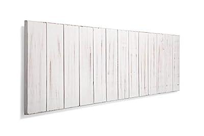 Cabeceros de madera para camas de 90 y 105, estilo nordico Cabeceros de lamas de madera de pino, con herrajes para anclar a la pared Cabezales de cama para dormitorios juveniles y de matrimonio Cabezal con estructura de tablas de madera de pino de al...