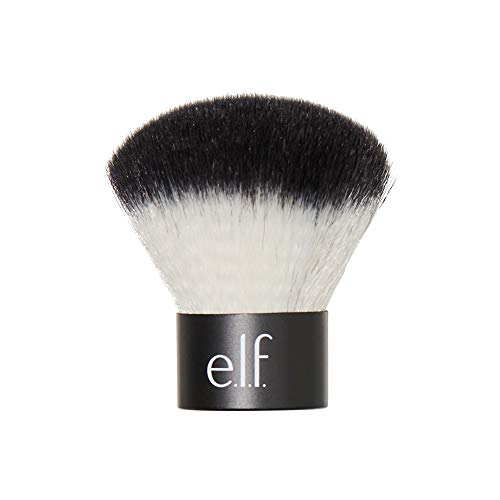 e.l.f. Cosmetics Makeup Kabuki Face Brush for Flawless Application, Compact, Travel-Size Brush