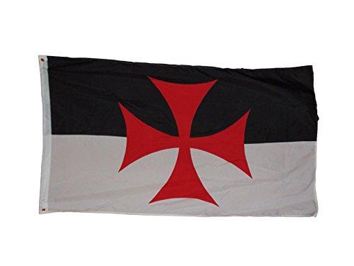 Templar Knights Battle Flagge Fahne, 3 X 5, 1.52 X 3 meters