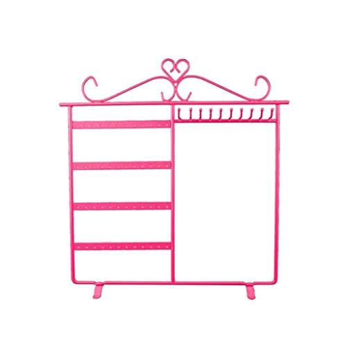 GANFANREN Estante de joyería de Rosa, diseño único, Duradero, fácil de Limpiar, el Medio Ambiente y Hermoso, Que se Utiliza for Colgar Joyas