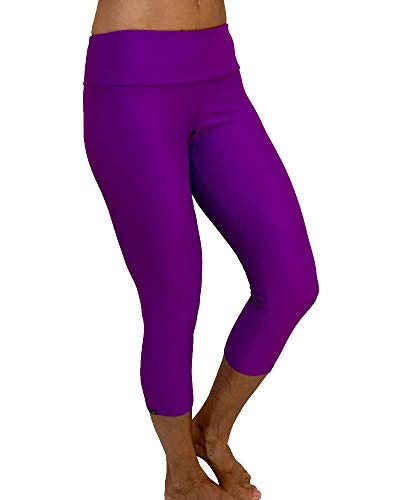 Onzie Hot Yoga Capri 202 Electric Purple (Electric Purple, Small/Medium)