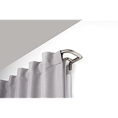Umbra 1005892-782-REM Twilight Double Rod 48-88  Twilight Room-Darkening Double Curtain Rod for Window, 48 To 88 , Matte Nickel