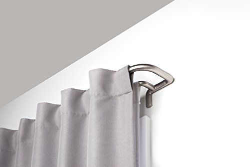 Umbra Twilight Double Curtain Rod Wrap Around Design for Blackout or Room Darkening Panels, 28-48 Inch (71-122cm), Nickel