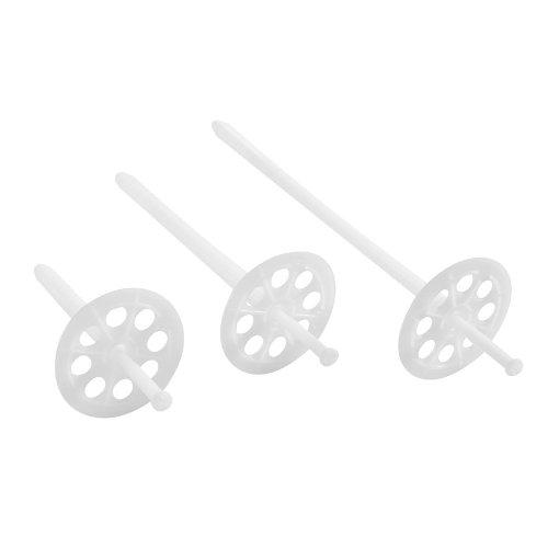 Dämmstoffhalter 10 x 90mm (200 Stk.) Dämmstoffdübel mit Kunststoffnagel gelocht, Tellerdübel für WDVS, VWS, EPS