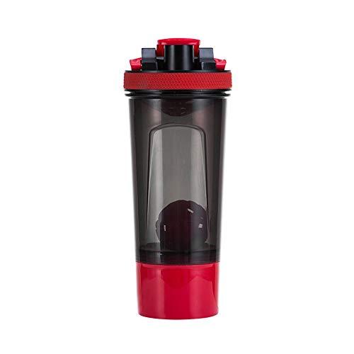 LHY EQUIPMENT Shaker Proteinas Bottle, con Dos Contenedores De Almacenamiento Y Bandeja...