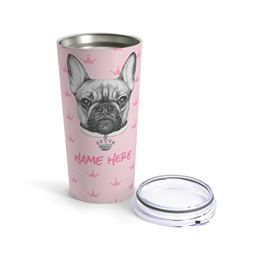 French Bulldog Coffee Travel Mug - Frenchie Tumbler Bulldogs Bull Dog Gifts