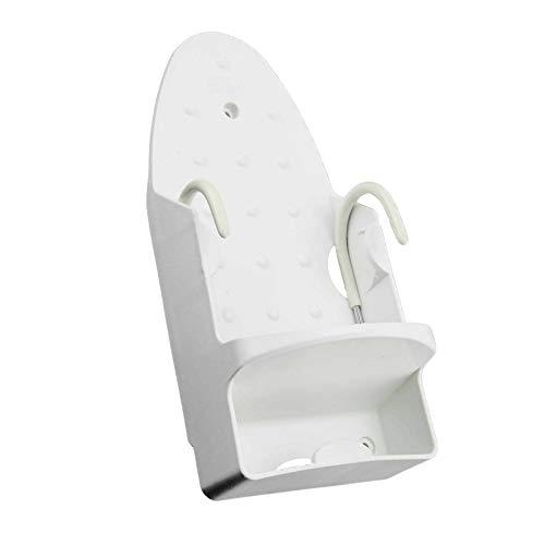 Yagosodee - Supporto per asse da stiro, montaggio a parete, per armadio, porta, in ferro da stiro, per la casa, bagno, colore: bianco