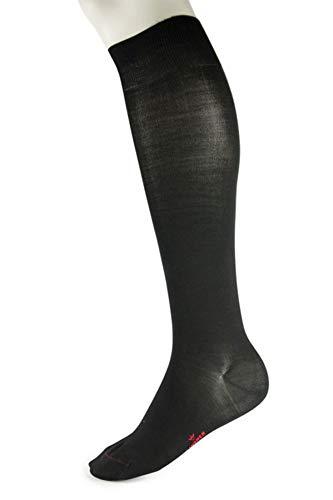 LINDNER premium silk-seidenkniestrümpfe pur