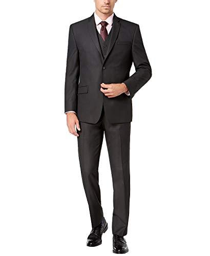 Adam Baker Charcoal Classic Fit Vested Suit