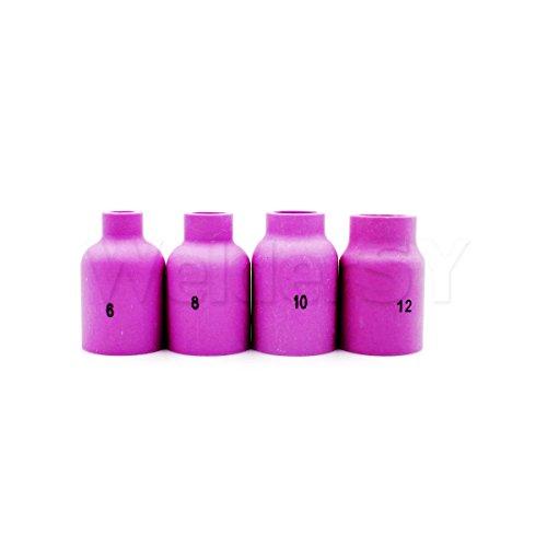 Tig Schweißbrenner Verbrauchsmaterial-Set Gaslinse, Aluminium-Keramik, Cup Shroud für WP-17 18 26