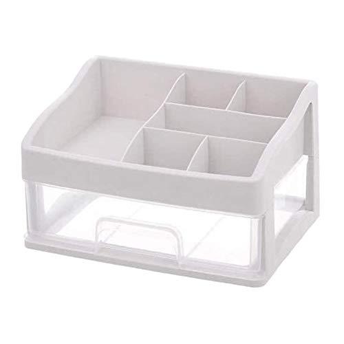 Milageto Expositor para cajas portaobjetos para maquillaje cosmético para accesorios para el cuidado del cabello – 1 nivel
