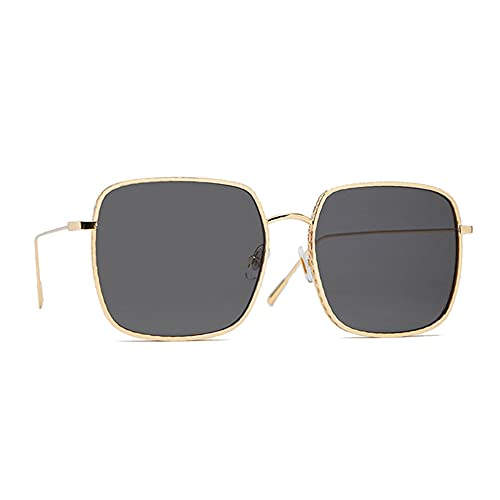 HAIGAFEW Gafas De Sol Cuadradas Unisex para Mujer Gafas De Sol De Gran Tamaño para Mujer Gafas De Sol De Gran Tamaño para Mujer Proteger Los Ojos-Negro