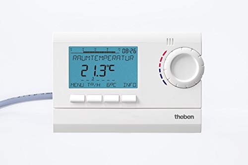 Theben 8120132 RAM 812 top2 (RAMSES) - digitales Uhrenthermostat mit Tages-, Wochen- und Ferienprogramm (RAMSES 812 top2), Raumtemperaturregler, Raumregler, Thermostat