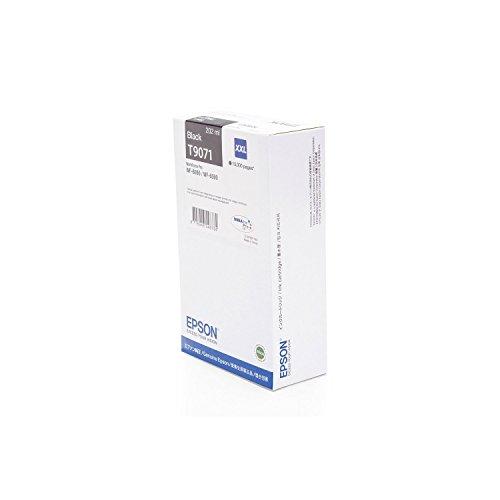 Original Epson C13T907140 / T9071, für Workforce Pro WF-6590 DWF Premium Drucker-Patrone, Schwarz, 10000 Seiten, 202 ml