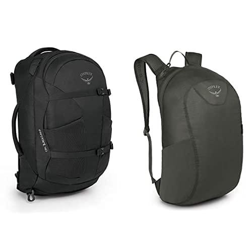 Osprey Farpoint 40 Men'S Travel Pack - Volcanic Grey (M/L) + Ultralight Stuff P Mochila, Unisex Adulto, Gris (Shadow Grey), O/S
