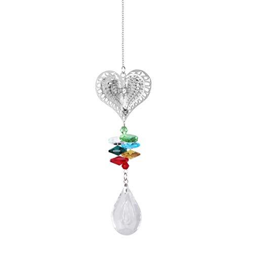 Cabilock Corazón Cristal Suncatcher Ventanas Bola Araña Prismas Colgante Cristal Ventilador de Techo Cadenas de Extracción Jardín Arco Iris Fabricante Fengshui Decoraciones 38 Mm