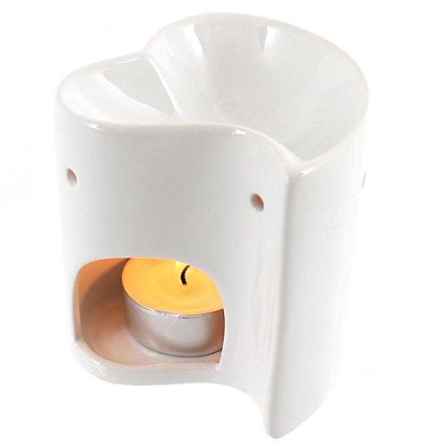 Jones Home & Gift Color Blanco corazón Quemador de Aceite