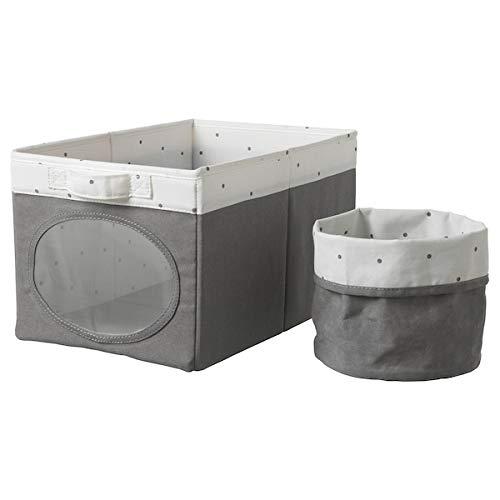 NOJSAM Box und Korb, grau, 25x37x22 cm Speziell entwickelt für Ihr Kind zum Lernen und Entdecken. Wickelzubehör, das umweltfreundlich ist. Handwäsche, max. 40°C