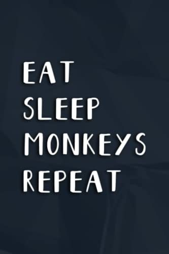 Asthma Journal - Eat Sleep Monkeys Repeat Monkey Nice Pretty: Monkeys, Asthma Symptoms Tracker with Medication,Peak Flow Meter Section and Exercise ... People with Asthma (Log Book),Daily Journal