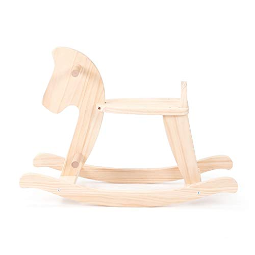Fantastic Prices! Rocking horse ZJING Solid Wood ins Trojan Nordic Baby Baby Trojan Horse
