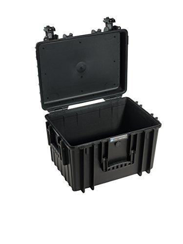 B&W Outdoor Case Hartschalenkoffer Typ 5500 leer (Hardcase Koffer IP67, ohne Inhalt, wasserdicht, Innenmaß 43x30x30cm, Schwarz)
