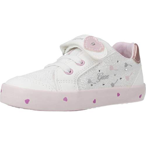 Geox B Kilwi Girl D, Sneakers Basses Garçon Fille, Blanc (White/Pink C0406), 20 EU