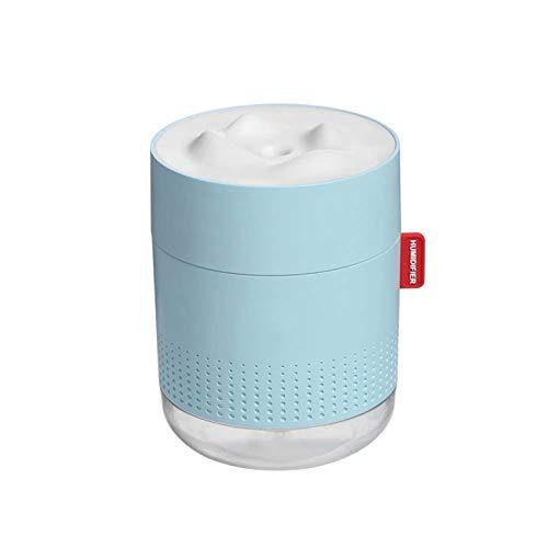 Kunyun Humidificador ultrasónico portátil 500 ml Montaña de Nieve H2O Difusor de Aire del Aroma USB con la lámpara de Noche romántica humidificador. (Color : Azul)