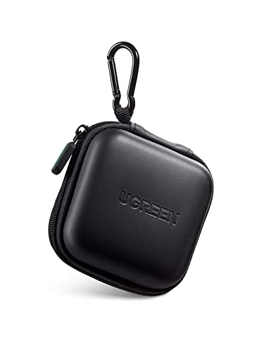UGREEN Earbud Case Earphone Carrying Case Holder Storage Bag Headphone Mini Pouch Compatible for Wireless Beats Bose Earbuds Airpods Bluetooth Headset Wall Charger USB Adapter Cable with Carabiner
