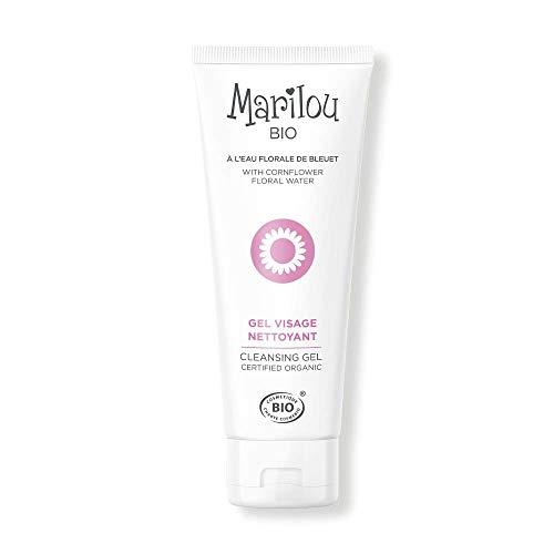 Marilou Bio - Gamme Classic - Soins pour le Visage - Gel Visage Nettoyant - Hydratant et Apaisant - Tube de 75 ml - une Peau Parfaitement Nettoyée et Apaisée en Seul Geste !