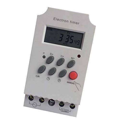 MagiDeal Interruptor Temporizador Electrónico Programable Digital LCD de Carril DIN KG316T-II AC 220V
