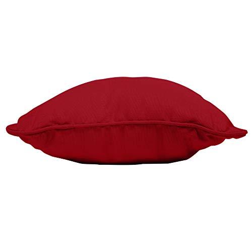 douceur d'intérieur 1604661 Panama Coussin Coton Rouge 40 x 40 cm
