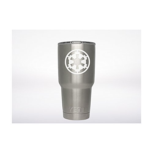 Star Wars Galactic Empire Decal Genuine ViaVinyl brand for Yeti and Rtic tumbler cups, Macbooks and Laptops, iPads and Tablets, iPhones and cell phones, automobile car and truck windows - and more!