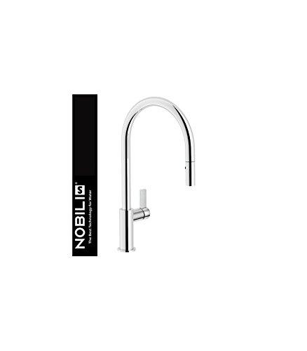 Nobili rubinetterie fl96137cr grifo fregadero ducha extraíble