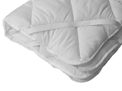 Stepp-Unter-Bett Matratzenschoner Micro-Comfort - Weiß, 80 x 200 cm, Mikrofaser-Auflage mit Übereck-Gummis, Soft-Topper, Bett-Unterlage, Öko-Tex Standard 100, Allergiker Geeignet & Atmungsaktiv