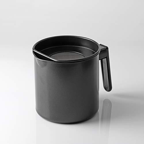 【BLKP】 パール金属 オイル ポット 1.1L 限定 ブラック 油缶 受け皿付 BLKP 黒 AZ-5040