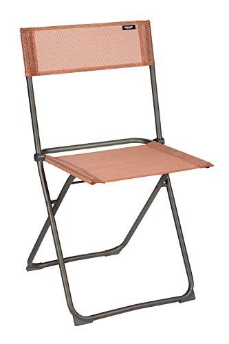 Lafuma Chaise pliante compacte, Terrasse, balcon et jardin, Balcony, Batyline, Couleur: Terracotta, LFM2600-8899