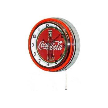 """Coca-Cola Classic 1910 Neon Clock sign Coke Fully Licensed 15/"""" Neonetics 8CCCLA"""