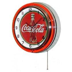 POPmart Neon 18 Tin Wall Clock Coca Cola Red