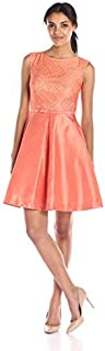 Taylor Dresses Women's Solid Strtch Shantung with Bow