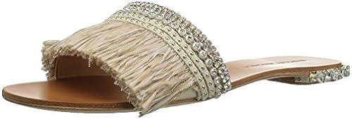 Badgley Mischka damen& 039;s Sharlene Flat Sandal, Ivory, Ivory, Ivory, 10 M US  Räumung sparen