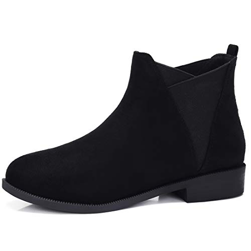 CAMEL CROWN Chelsea Boots Damen Ankle Boots Slip-On Stiefeletten Flache Blockabsatz Stiefel Klassisch Komfortable Rutschfest für Daily Casual Weiß + Gelb ,41EU