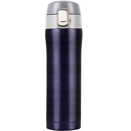 Loma thé Thermos Tasse thermique en acier inoxydable avec couvercle Leckdichtem 500a ml bleu
