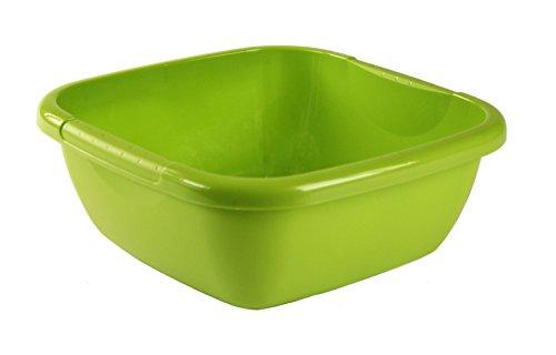 Rotho Daily Becken/Spülwanne 8 l, Kunststoff (PP), grün, 8 Liter (34,5 x 34,5 x 13 cm)