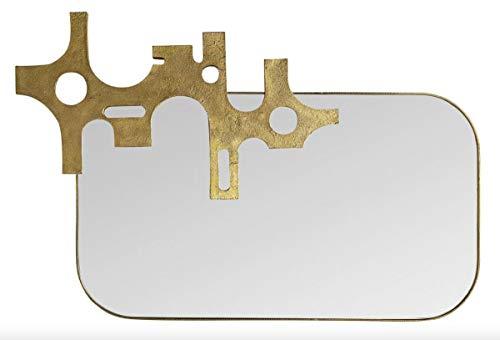 Casa Padrino Designer Spiegel Bronze - Gold Optik 81 x 54 cm - Art Design