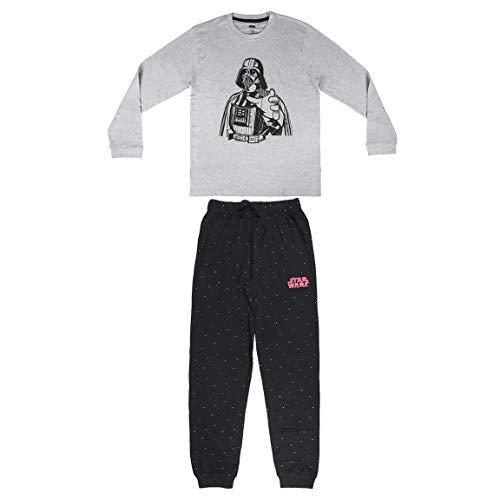 Artesania Cerda Pijama Largo Star Wars Conjuntos, Gris (Gris C13), L para Niños